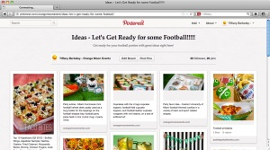 Pinterest Football board